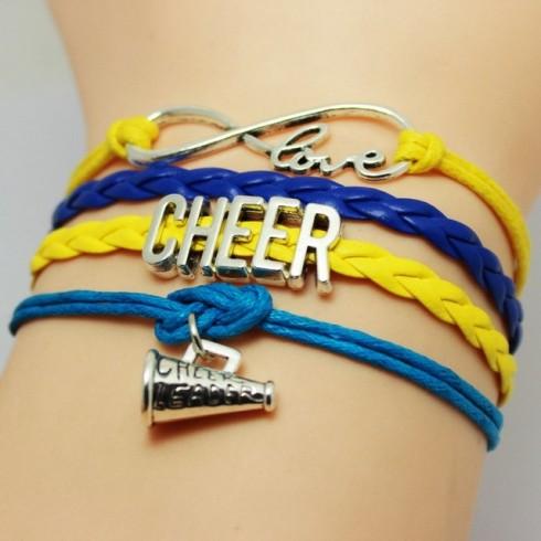 Cheer Armband gelb / blau