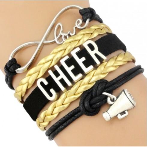 Cheer Armband gelb / schwarz