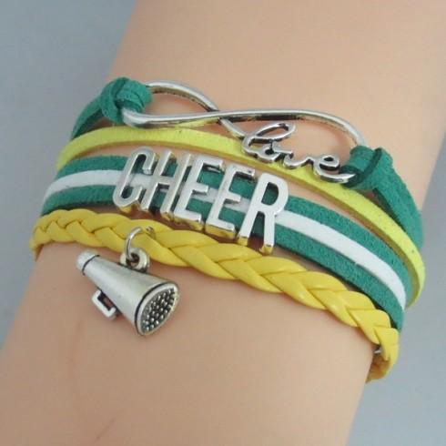 Cheer Armband Cheer love grün / gelb