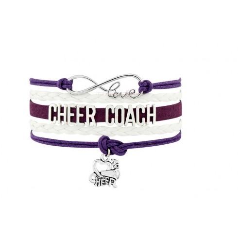 Cheer Coach Armband weiß / lila