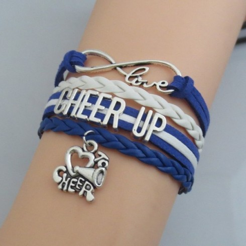 Cheer Up Armband weiß / blau