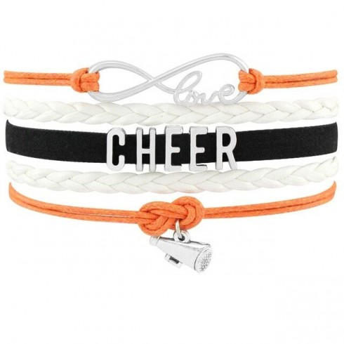 Cheer Armband Cheer love orange / weiß / schwarz