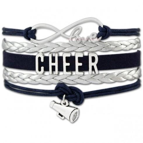 Cheer Armband Cheer love silber / schwarz