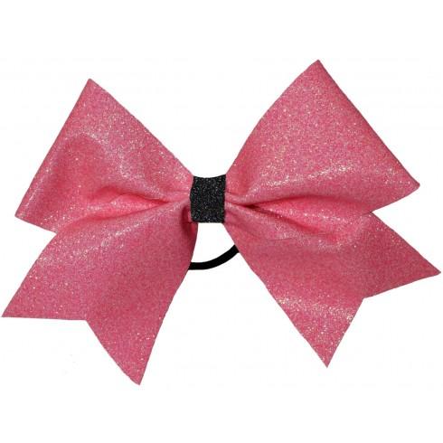 Shiny Pink Black Glitter
