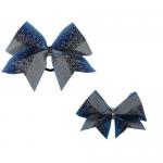 Bow Set Glitter Power Blue - Haarschleife und Anhänger
