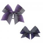 Bow Set Glitter Power Purple - Haarschleife und Anhänger