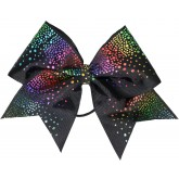 Rainbow glittery drop black