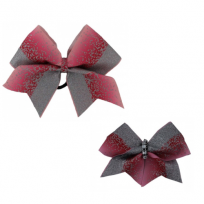 Bow Set Glitter Power Pink