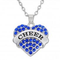 Cheer Herz Kette - Blau