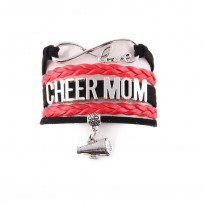 Cheer Mom Armband rot / schwarz
