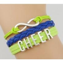 Cheer Armband grün / blau