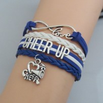 Cheer Up Armband weiß / blau