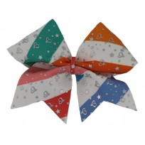 Colorful heart bow