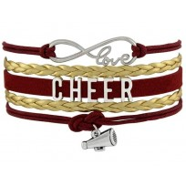 Cheer Armband Cheer love rot / gold