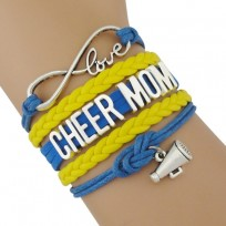 Cheer Mom Armband blau / gelb