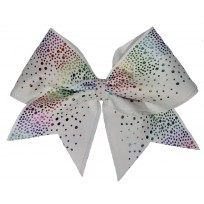Rainbow glittery drop white
