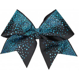 Aqua glittery drop black