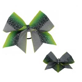 Bow Set Glitter Power Green - Haarschleife und Anhänger