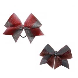 Bow Set Glitter Power Red - Haarschleife und Anhänger