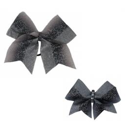 Bow Set Glitter Power Silver - Haarschleife und Anhänger