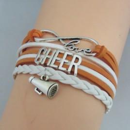 Cheer Armband Cheer love orange / weiß