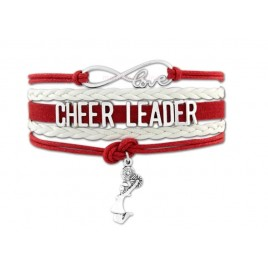 Cheerleader Armband rot / weiß