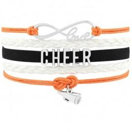 Cheer Armband Cheer love orange / weiß / schwarz