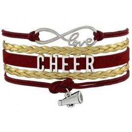 Cheer Armband Cheer love rot / gold