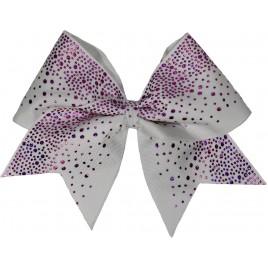 Purple glittery drop white