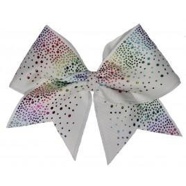 Rainbow glittery drop white