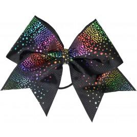 Rainbow glittery drop black