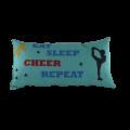 Cheerleader Kissen - Eat Sleep Cheer Repeat 58 x 30 cm